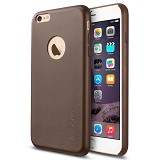 "SPIGEN iPhone 6 (4.7"") Case Leather Fit Series [SGP11356] - Olive Brown - Casing Handphone / Case"
